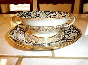 Schumann-Bavaria-Cream-Soup-Bowl-and-Saucer