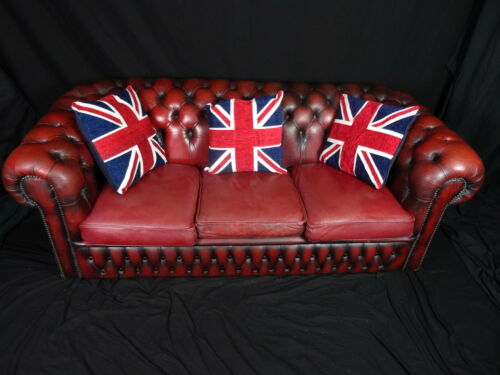 Classic-Luxury-Handmade-Chesterfield-Style-3-Seater-Oxblood-Red-Leather-Sofa
