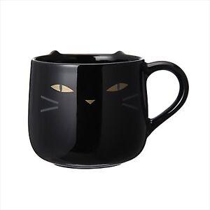 New Starbucks Coffee Halloween Black Cat Mug Cup Neko 400ml F S From