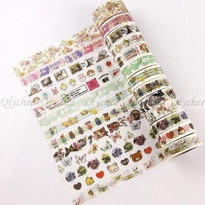 1X Sticky Adhesive Sticker Decor Washi Tape DIY Stationery Europe Style Pattern