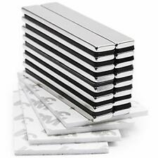 Strong Neodymium Bar Magnets With Double Sided Adhesive Magnet Pack Of 16