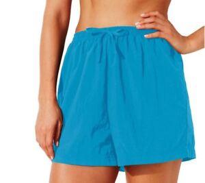 Swim365-Women-039-s-Plus-Swim-Shorts-Coverup-Quick-Dry-Taslon-Nylon-TEAL-NWT-26-28-W