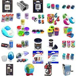 Helix-Oxford-Maped-Pencil-Sharpeners-Back-To-School-Stationery-Boy-Girl-Set