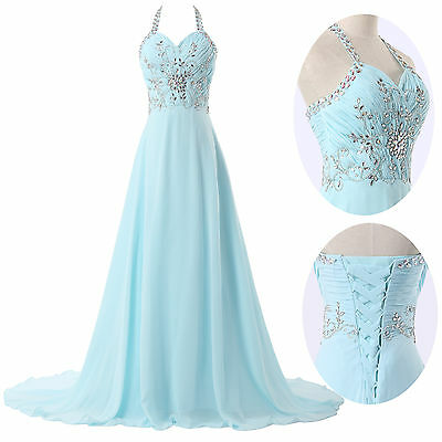 Evening Evening Pageant Prom Long Formal Wedding Bridesmaid Ball Gown Dress JS