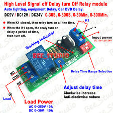 Dc 5v 12v 24v Adjustable Time Delay Timing Timer Relay Switch Turn Offon Module