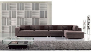3 Pc Contemporary Euro Gray Fabric Sectional Sofa Chaise Chair Living Room Set Ebay