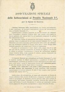 P319-ASSICURAZIONI-SPECIALI-SOTTOSCRIZIONI-AL-PRESTITO-X-DI-GUERRA-BOLOGNA-1916