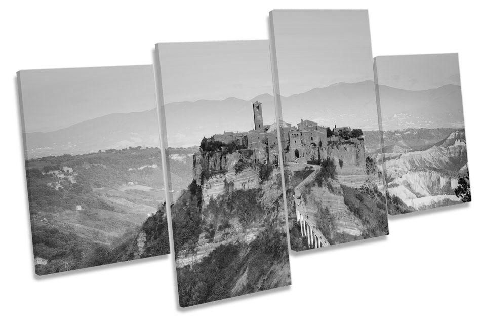 Civita di Bagnoegio Bagnoegio di Italy BW CANVAS WALL ART MULTI  Box Framed 0be447