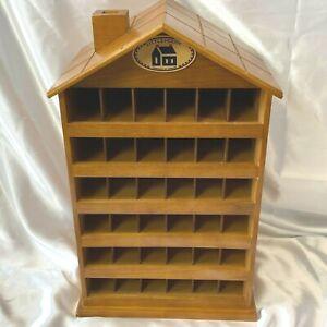 Kinkame Little House Thread Decorative Store Display Wood Organizer Holder CSH