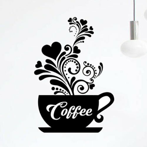 wall art love coffee cups kitchen tea sticker vinyl decal restaurant