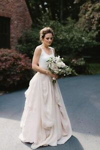 Image Is Loading Modern 2 Pieces Wedding Dress Boho Bridal