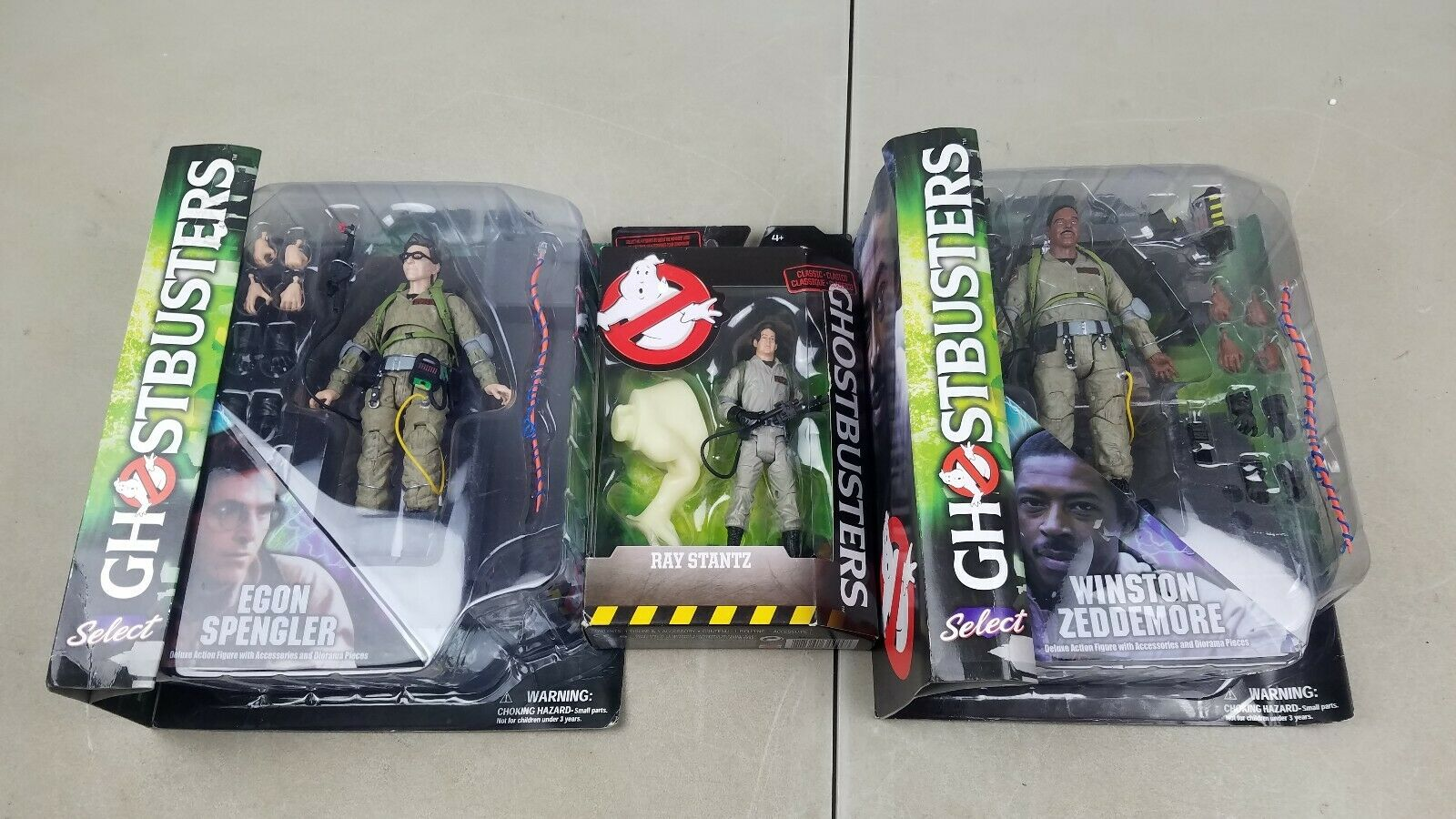 Ghost busters diamond select figure lot Egon spengler, winston zeddemore + BONUS