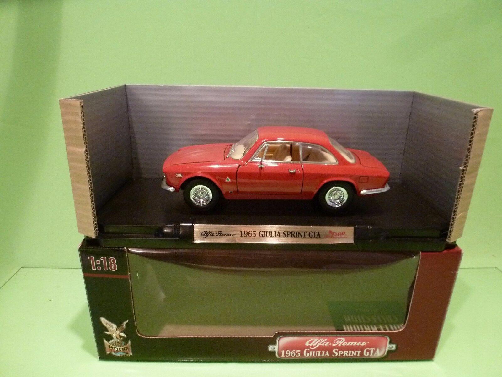 YATMING 92348 ALFA ROMEO GIULIA SPRINT GTA 1965 - rojo 1 18 - NEAR MINT IN BOX