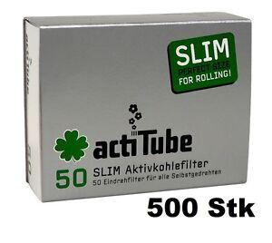 500x-10x-50-Stk-actiTube-AKTIVKOHLEFILTER-SLIM-6-9mm-Durchmesser