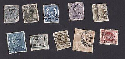 Genial 10 Briefmarken Belgien Belgique Alt 20er Jahre Gestempelt Warm Und Winddicht Europa