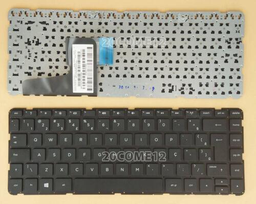For HP 14-d027br 14-d028br 14-d030br Keyboard Brazil Portuguese Teclado No Frame