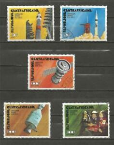 CENTRAL-AFRICAN-REPUBLIC-1976-Apoll-Soyuz-Space-Link-USED-SET