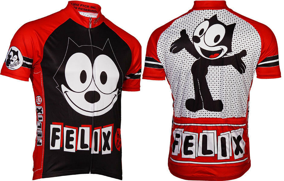Microbrewery Men's Felix the Cat Cycling Jersey 2XL Hard to find big sizes