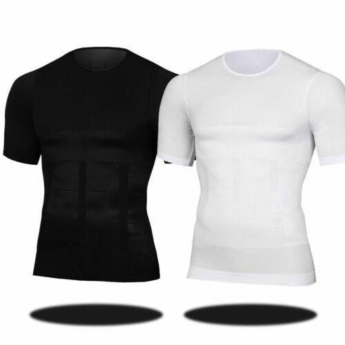 Herren Neu Shirt Körper abnehmen Bauch Mieder Bauch Unterwäsche Shapewear Weste