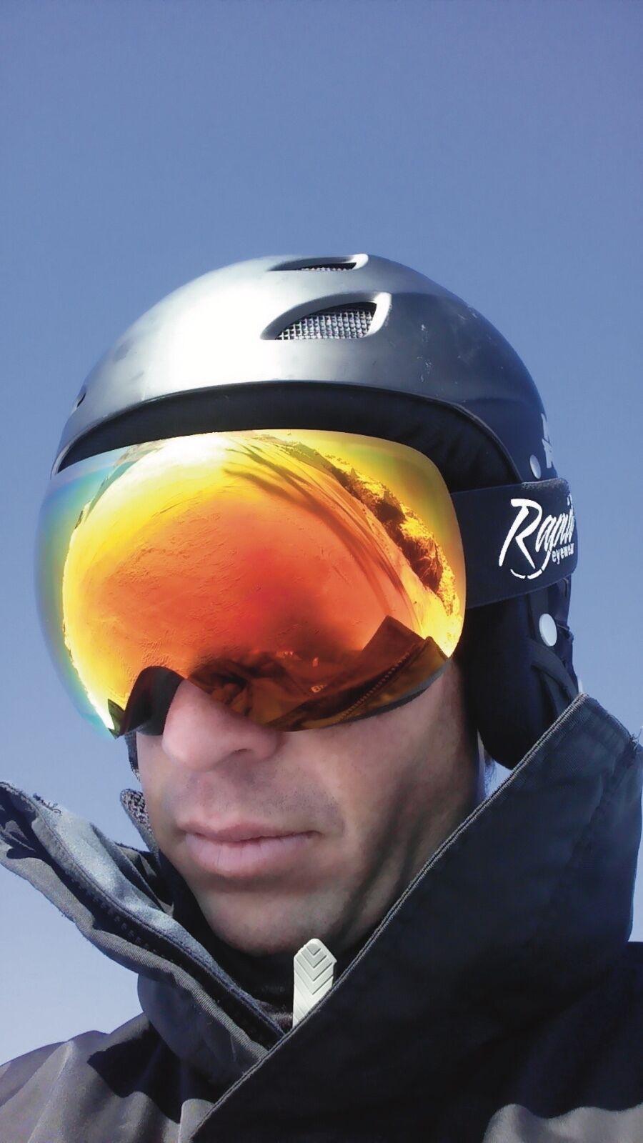 SKIBRILLE MIT SEHSTÄRKE: CLIP für Brillenträger. Verspiegelt UV. Optik Optik Optik inklusive 3b83fa