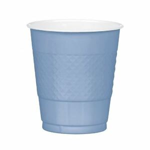 20-Bebe-Azul-Pastel-Plastico-Taza-355ml-Color-Fiesta-Cumpleanos-Ducha-Vajilla