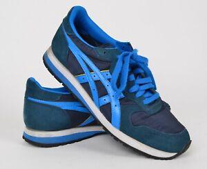 sale retailer 98a3e 22e82 Details about Onitsuka Tiger Men's Sz US 9 OC Runner Shoes DL301 Blue Suede  Lace Up Sneakers