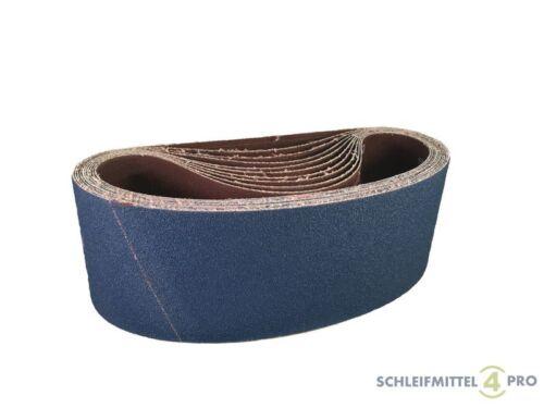 10 SANDERSHARK Schleifbänder 75x533 K120 Gewebe ZK INOX//Holz//Metall Made AUT