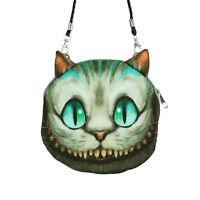 süsse kleine Grinsekatze Tasche Umhängetasche Alice im Wunderland Handtasche