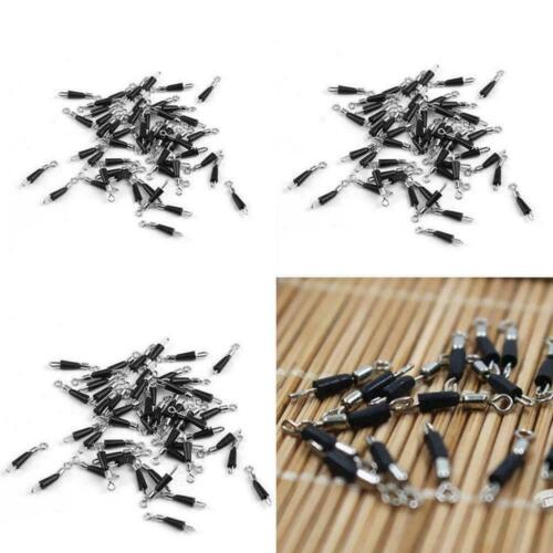 30 Pcs Quick Change Fishing Swivels Clips Pins Fast Connector Link Line W7L1