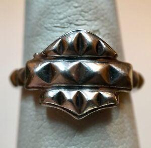 Details about Ladies Harley Davidson Sterling Silver Ring Bar & Shield Size  6 75 Original Box