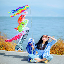 Japanese Windsock Carp Flag Koi Nobori Sailfish Fish Wind Streamer Decoration