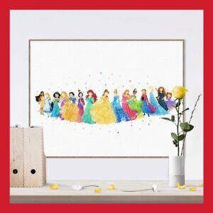 Toile Imprimee Poster Photo Murale Princesse Disney Deco Chambre