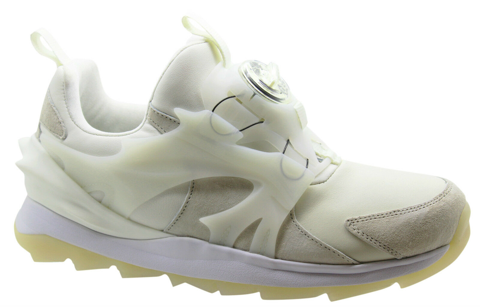 Puma Disc Swift Tech Homme Trainers Marshmallow Blanc Casual 356904 01 U52