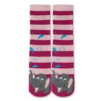 K.bell Pair Light Pink Dark Pink Gray Elephant Tube Socks Non Skid Socks