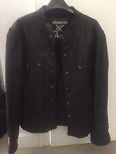 All Saints Rock Leather Jacket L XL