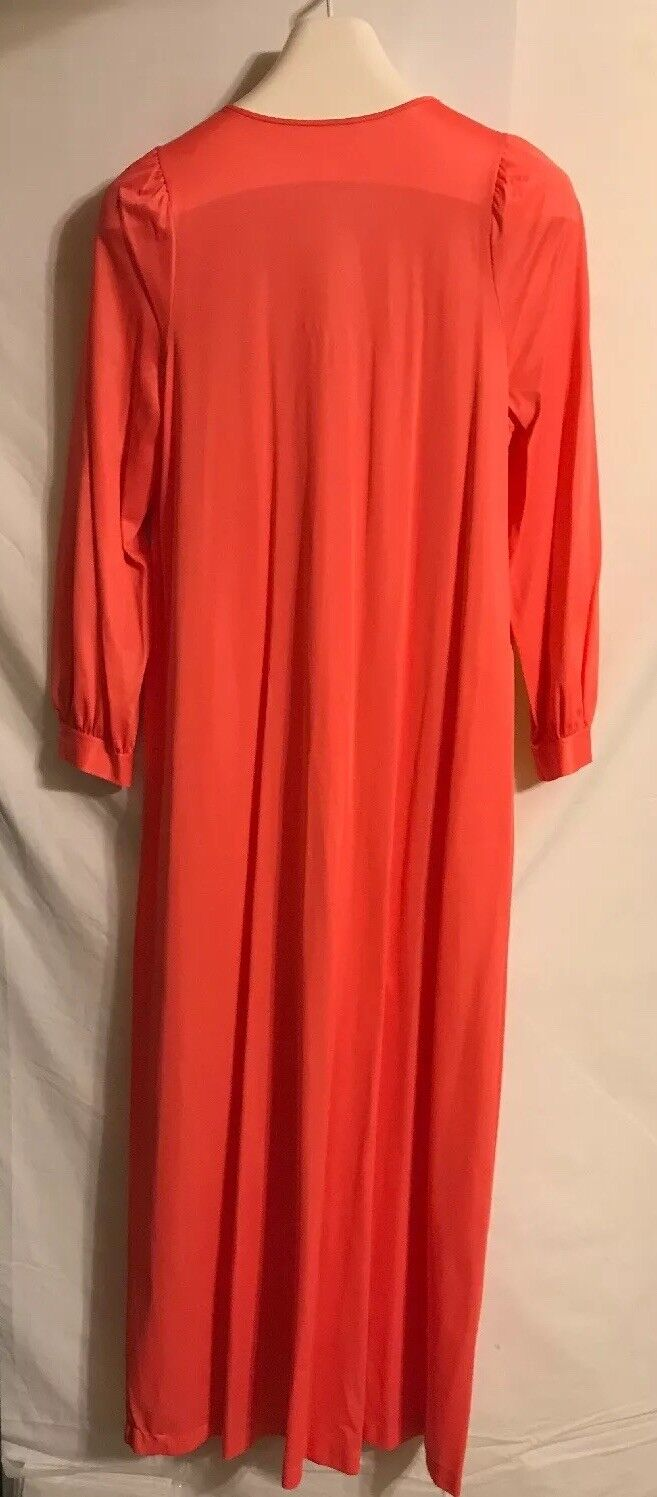 Vintage Gossard Ladies Deep Peach Long Gown Or Ro… - image 6
