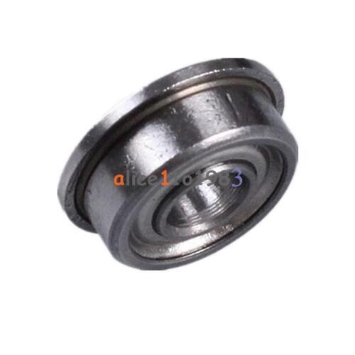 2PCS MF104ZZ 4x10x4 mm Metal Shielded Flanged PRECISION Ball Bearing