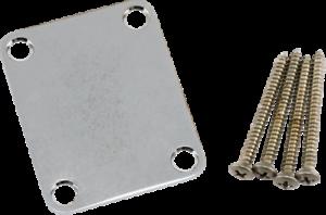 Genuine Fender Road Worn Chrome Strat/tele Neck Plate With Mounting Hardware Vwu4w42j-07163445-201573848