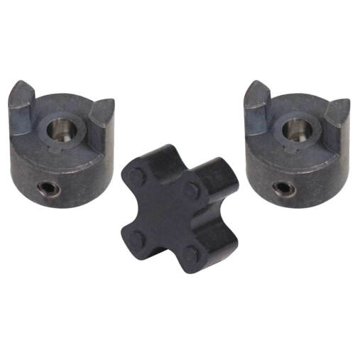 "1//4/"" x 1//4/"" Shaft Flexible Jaw Coupler /& Rubber Spider L050 Lovejoy Coupling Set"