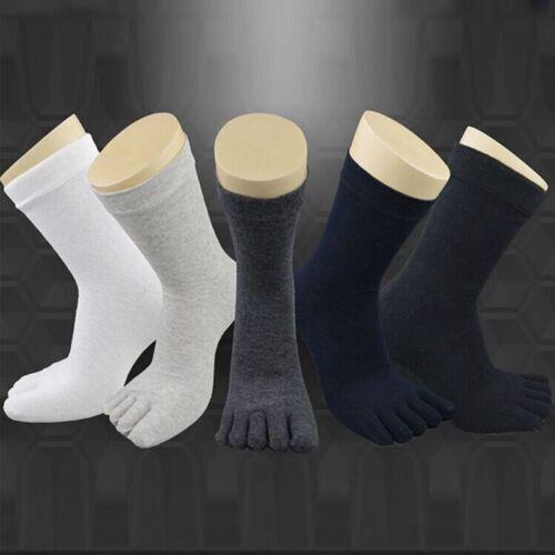 1//5//7 Pairs Men Unisex Casual Breath Cotton Toe Socks Sports Five Finger Socks