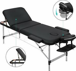 Lettino-Massaggio-Pieghevole-3-Sezioni-con-Telaio-in-Alluminio-Regolabile