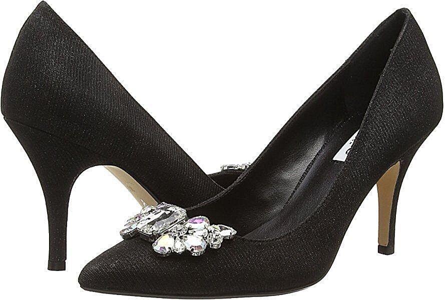 BNWB DUNE SIZE 3 4 6 7 BLACK DIAMANTE BELLA MID HEEL SPECIAL OCCASION Schuhe