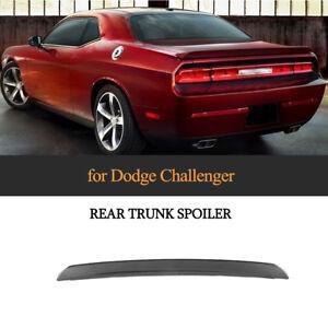 fuer-Dodge-Challenger-2008-14-Schwarz-Spoilerlippe-Kofferraum-Heck-Fluegel-Unpaint