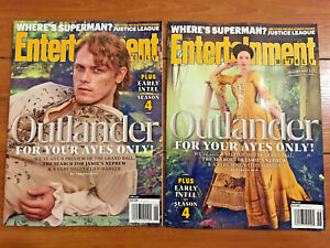 OUTLANDER-LOT-OF-2-COVERS-ENTERTAINMENT-WEEKLY-SAM-HEUGHAN-CAITRIONA-BALFE