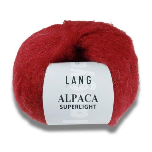 Lang Yarns Alpaca Superlight 25 G touche délicate mailles toutes les couleurs