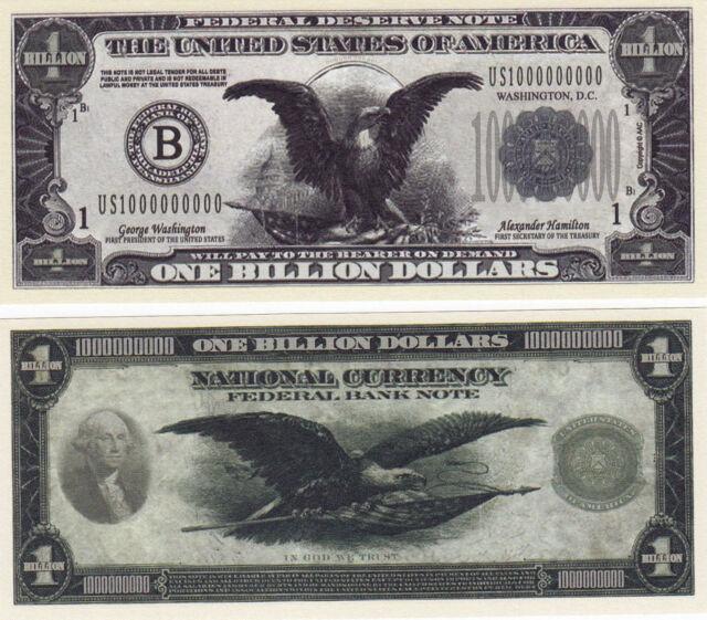 Trillion Dollar Novelty Money Bills