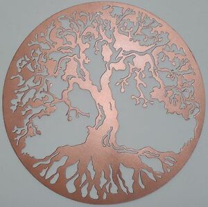 Image Is Loading Tree Of Life Metal Art Color Copper Wall