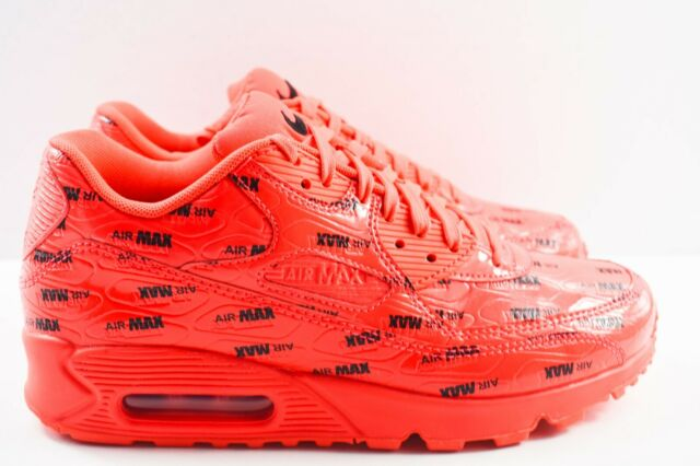 Nike Air Max 90 Premium Mens Size 7 Shoes 700155 604 Just Do It Red