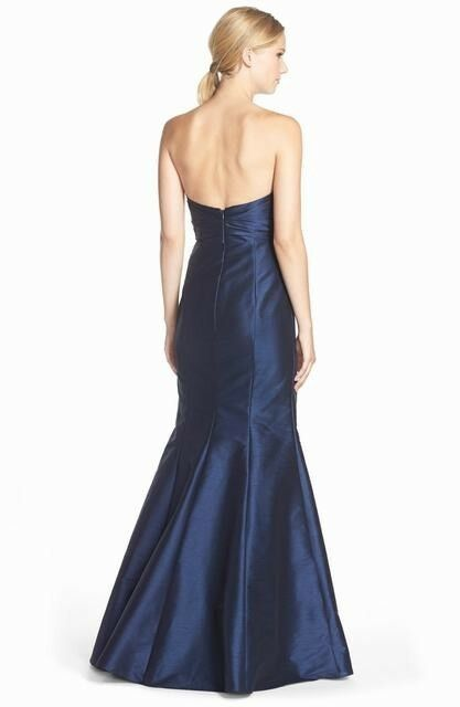 NEW NEW NEW JIM HJELM OCCASIONS Strapless Dupioni Sweetheart Trumpet GOWN Size 8  230 4201c1