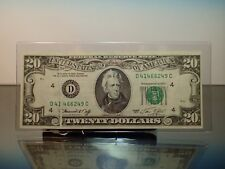 1974 $20 Gutter Fold Error Runs thru Serial Number Obverse Cleveland Fullhouse